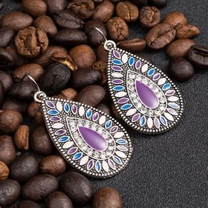 Vintage Boho Water Pendant Earrings
